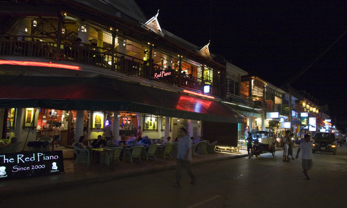 Street Number Eight (AKA Pub Street) in Siem Reap