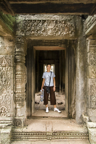 Lisa in the Bayon Temple