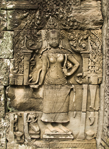 Rock carvings in the Bayon Temple