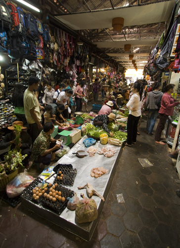 The markets in Siem Reap