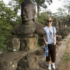 Lisa on the terrace into Angkor Thom