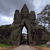The southern entrance to Angkor Thom
