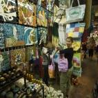 Lisa in the markets in Siem Reap
