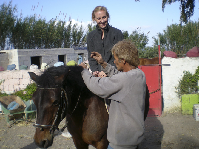 Andrea and her horse