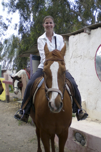 Lisa on her horse