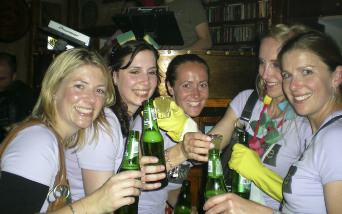 The girls at Murphy\'s Bar