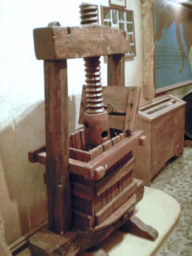 Oldest Basket Press at Koutsoyannopoulos Winery