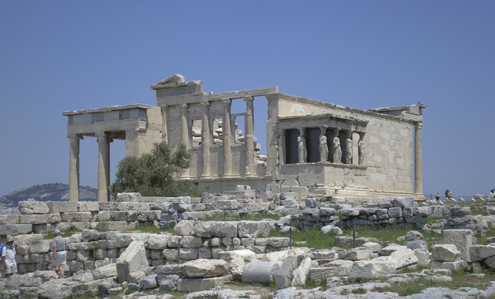The Erechtheion in the Acropolis