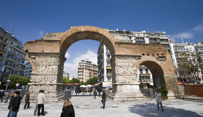 Ruins in downtown Thessaloniki