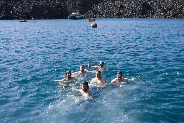 Swimming off of Nea Kameni