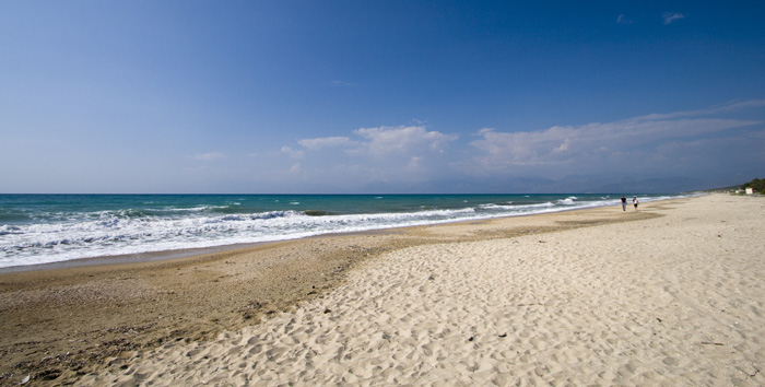 Almiros Beach on Kerkyra's north coast