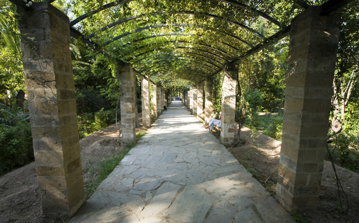 Walkway in the Greek National Gardens
