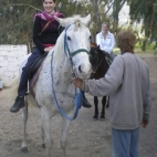 Sally and Sarah on their horses