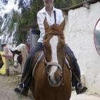 Lisa on her horse