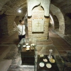 The crypt underneath the Church of Agios Dimitrios