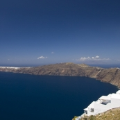 The northernmost tip of Santorini and the town of Oia