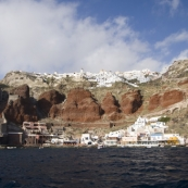 Ammoudi and Oia on the cliffs above
