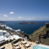 View looking south along Santorini from Tholos Resort
