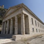 Ruin in Palaio Frourio (Venetian fortress) in Kerkyra Town