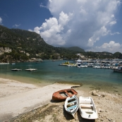 The harbor at Paleokastritsa on Kerkyra's west coast