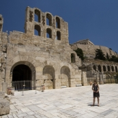 Lisa behind the Odeon of Herodes Atticus