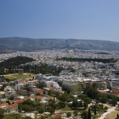Looking east across Athens from the Acropolis