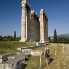 Lisa in front of the Temple of Olympian Zeus