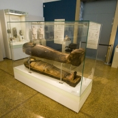 A 3000 year old sarcophagus (still containing the human remains) in the National Archaelogical Museum