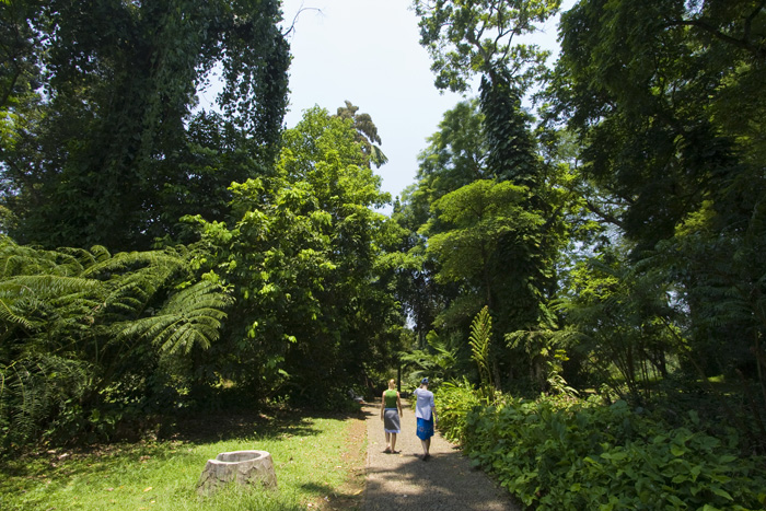 Lisa and Sophie in the Bogor Botanic Gardens