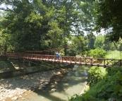 Lisa and Sophie on the Hanging Bridge in the Bogor Botanic Gardens