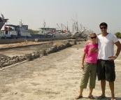 Lisa and Richie at the port north of Old Batavia