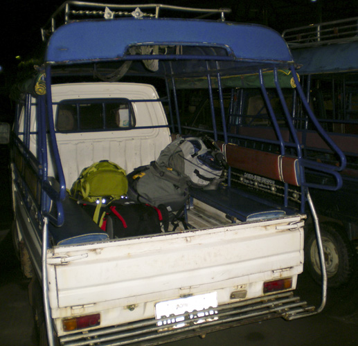 Our tuk-tuk from Luang Praban\'s airport