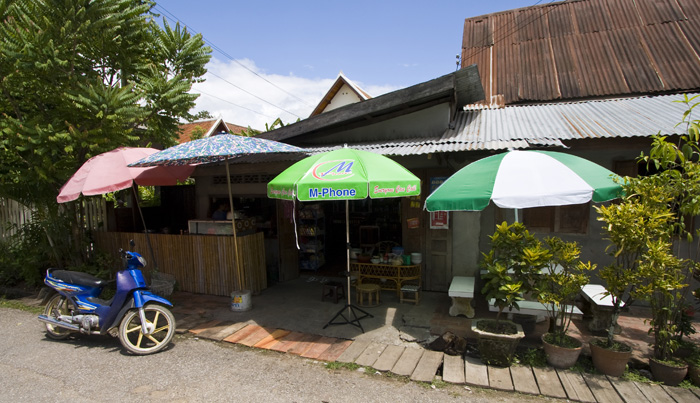 Our favorite little pho shop (where we ate lunch most days we were in Luang Prabang)