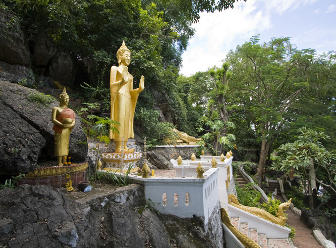 Buddha figures around Luang Prabang\'s central Phou Si