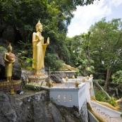 Buddha figures around Luang Prabang\'s central Phou Si