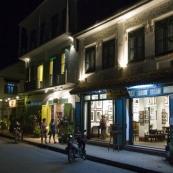 Luang Prabang's main drag by night