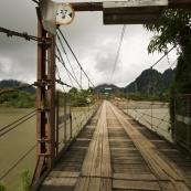A bridge over the Nam Xong River in Vang Vieng