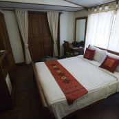 Our hotel room in central Vientiane