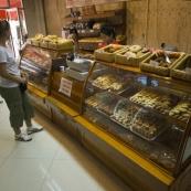 Lisa perusing one of the Scandinavian bakeries