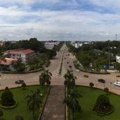 View of central Vientiane from the top of the Patouxai