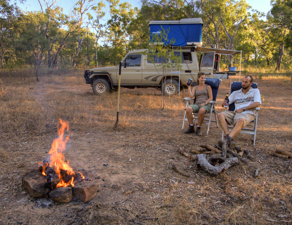 Camped at Horseshoe Lagoon in Lakefield National Park