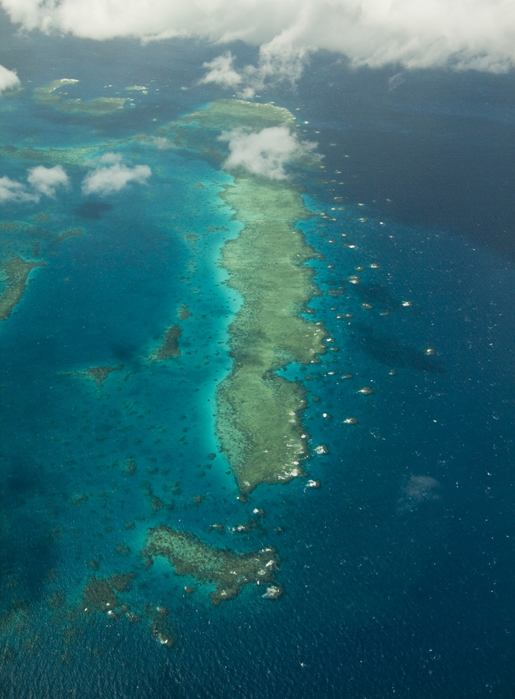 Brilliant view of the Great Barrier Reef on the way north to Lizard Island