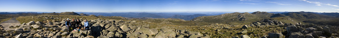 The view from the top of Australia at the peak of Mount Kosciuszko