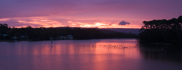 Electric sunset at Lake Conjola