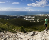 Panoramic of the Sunshine Coast from the top of Mount Coolum