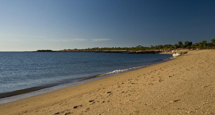 The beach at McGowan's Island