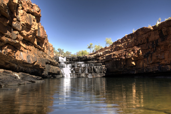 The waterfall and plunge pool at Bell Gorge