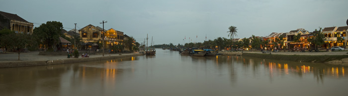 Hoi An old town as the sun sets