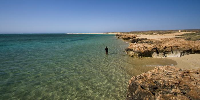Sam fishing at Osprey Bay