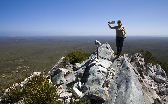 Lisa at the peak of West Mount Barren